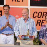 Los Reyes y el Príncipe en la entrega de premios de la Copa del Rey de Vela 2011