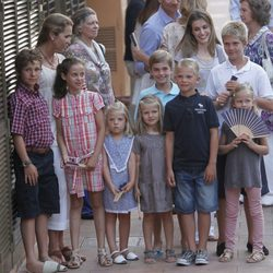 Todos los nietos de los Reyes juntos en Mallorca