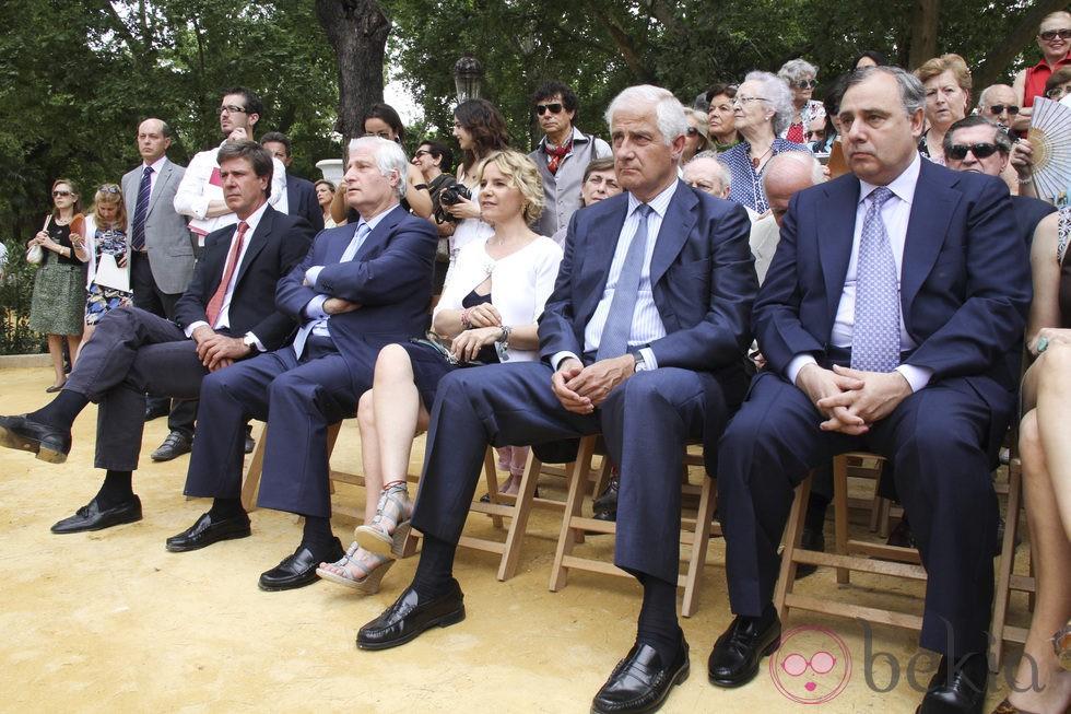 Carlos Fitz-James Stuart, Eugenia, Alfonso y Fernando Martínez e Irujo
