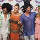 José Corbacho y Arturo Valls en la fiesta 'Flower Power' en Ibiza