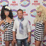 Sete Gibernau en la fiesta 'Flower Power' en Ibiza