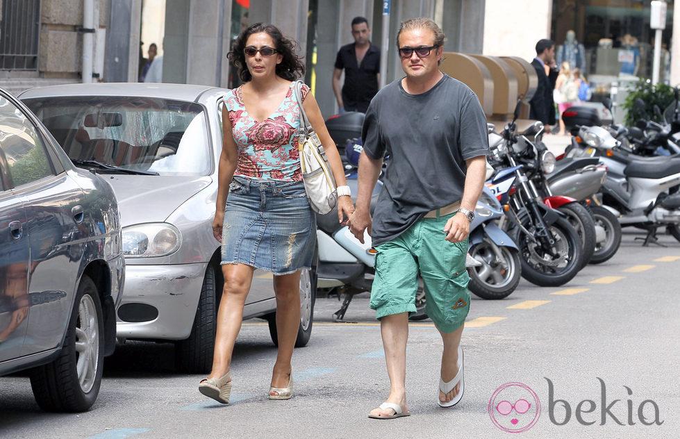 Isabel Gemio y Xavier Bennasar en Mallorca