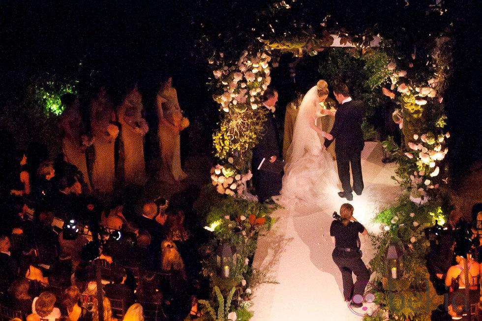 Hilary Duff y Mike Comrie en su boda