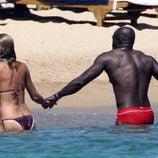 Heidi Klum y Seal cogidos de la mano en Porto Cervo