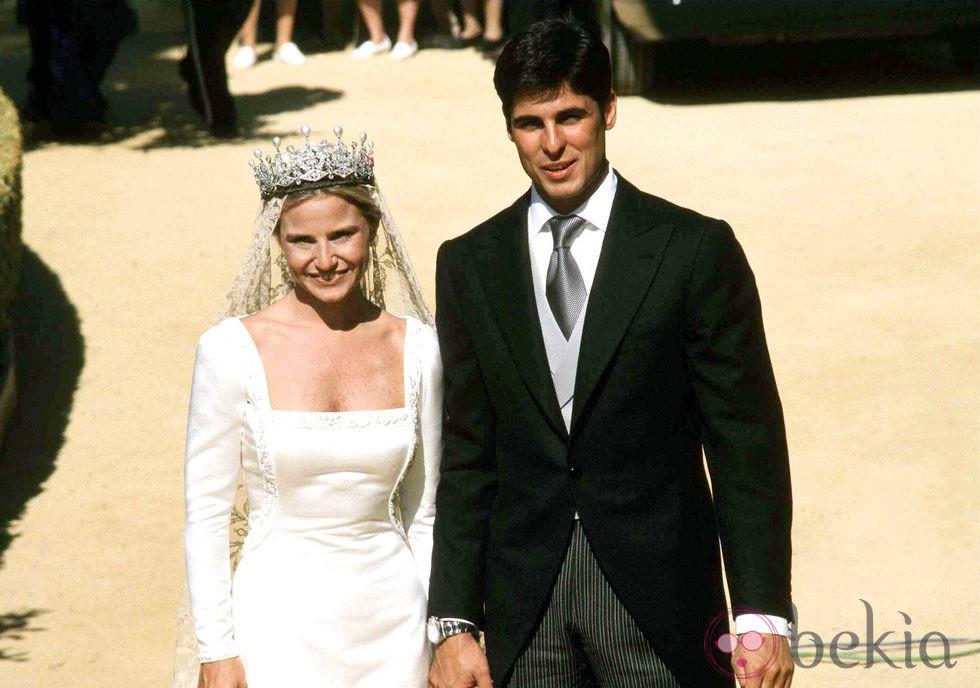 Eugenia Martínez de Irujo y Fran Rivera el día de su boda