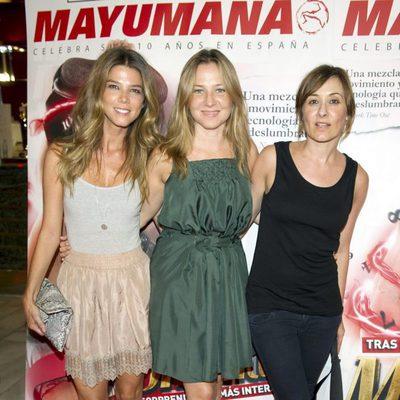 Juana Acosta, Pilar Castro y Nathalie Poza en el estreno de 'Momentum' de Mayumaná