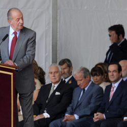 El Rey pronuncia un discurso de bienvenida al Papa en Madrid-Barajas