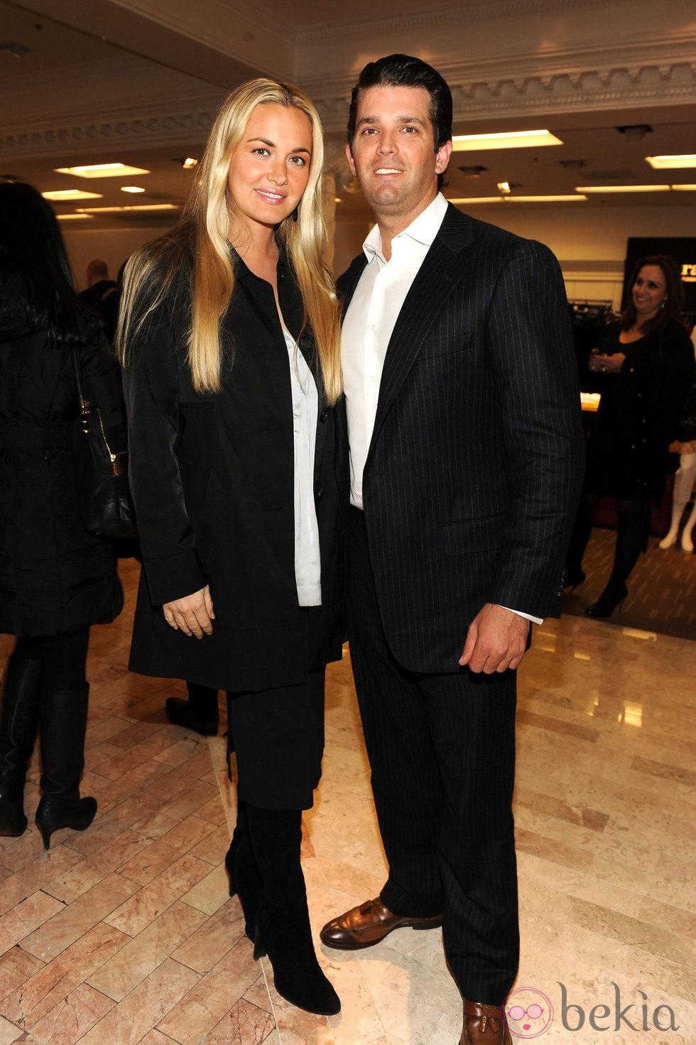 Donald Trump Jr y su mujer Vanessa durante la presentación de la colección de Ivanka Trump