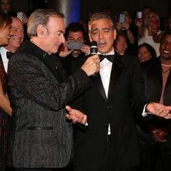 Neil Diamond y George Clooney