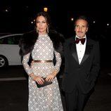 Nieves Álvarez y Marco Severini en la cena de gala de la exposición 'El arte de Cartier'