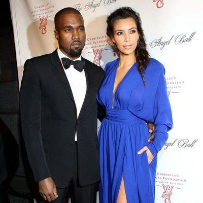 Kim Kardashian y Kanye West en la gala solidaria Angel Ball 2012