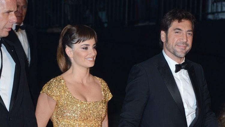 Penélope Cruz y Javier Bardem en el estreno de 'Skyfall' en Londres