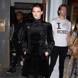 Linda Evangelista en la fiesta de inauguración de una tienda de Versace en Nueva York