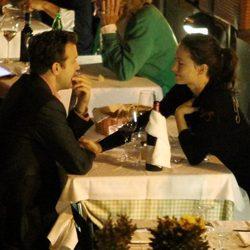 Olivia Wilde y Jason Sudeikis cenando en un restaurante italiano en Roma