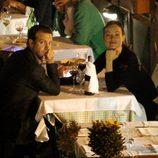 Olivia Wilde y Jason Sudeikis muy compenetrados en un restaurante italiano en Roma