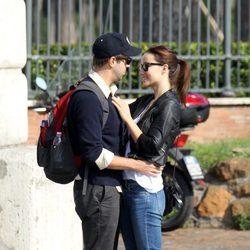 Jason Sudeikis y Olivia Wilde muy cariñosos en su viaje a Roma
