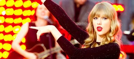 Taylor Swift durante una actuación en 'Good Morning America'