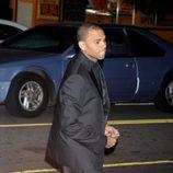 Chris Brown en el 50 cumpleaños de David Furnish