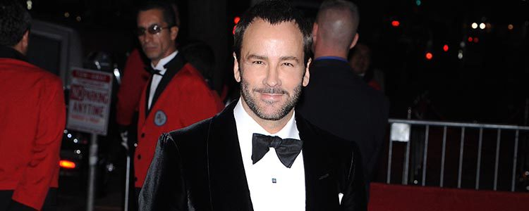 Tom Ford en el 50 cumpleaños de David Furnish
