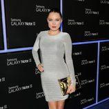 Clare Grant en la fiesta de lanzamiento del Samsung Galaxy Note II