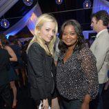 Francesca Eastwood y Octavia Spencer en el lanzamiento del Galaxy Note II