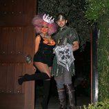 Christina Aguilera y su novio disfrazados para la fiesta de Halloween 2012
