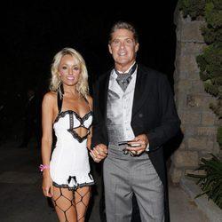 David Hasselhoff en la fiesta de Halloween 2012