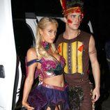 Paris Hilton y River Viiperi disfrazados para otra fiesta de Halloween 2012
