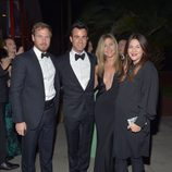 Will Kopelman, Justin Theroux, Jennifer Aniston y Drew Barrymore en la Gala Lacmar 2012