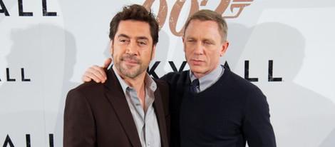 Javier Bardem y Daniel Craig en la presentación en Madrid de 'Skyfall'