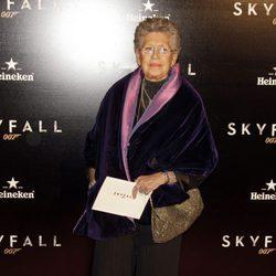 Pilar Bardem en el estreno de 'Skyfall' en Madrid