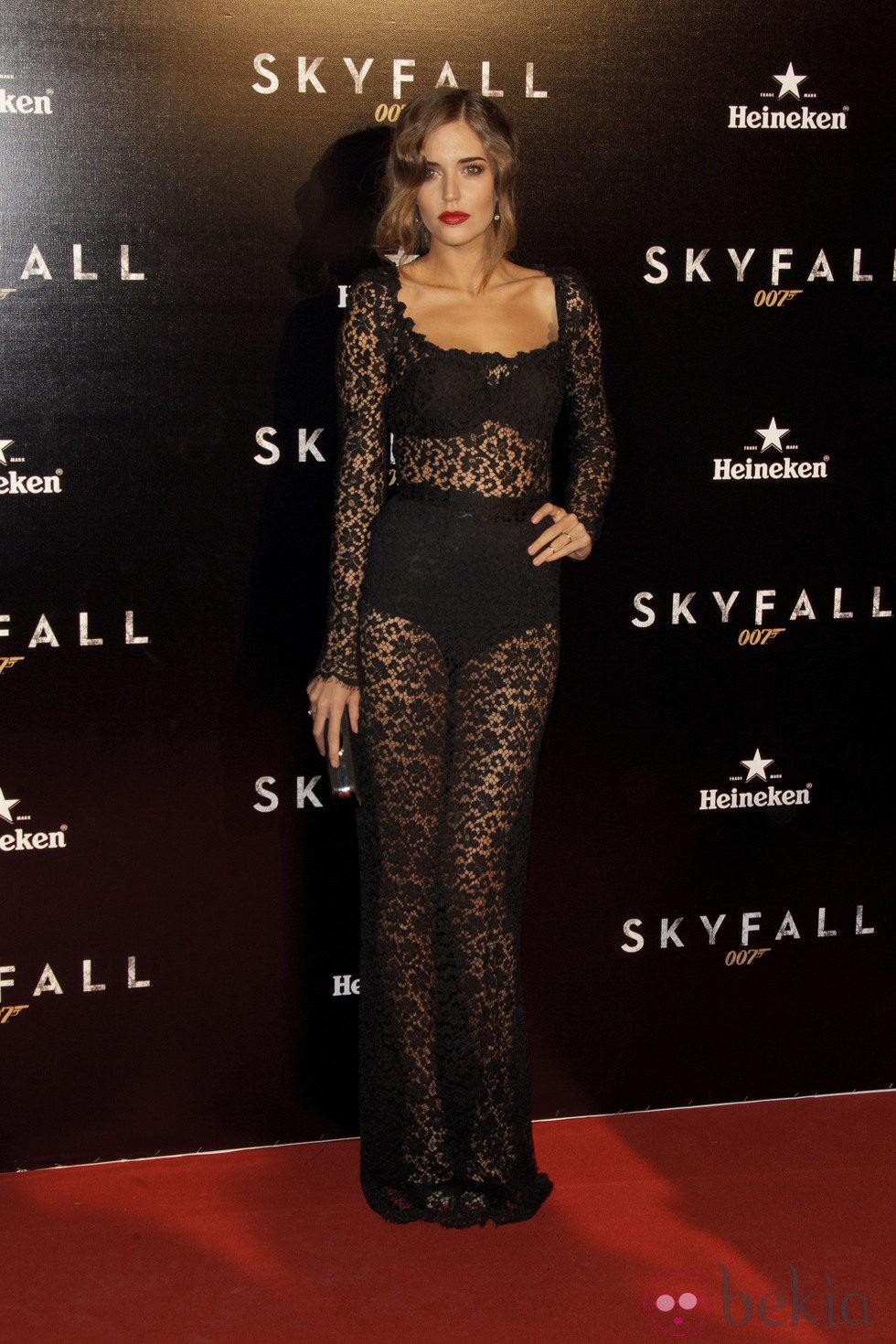 Clara Alonso en el estreno de 'Skyfall' en Madrid