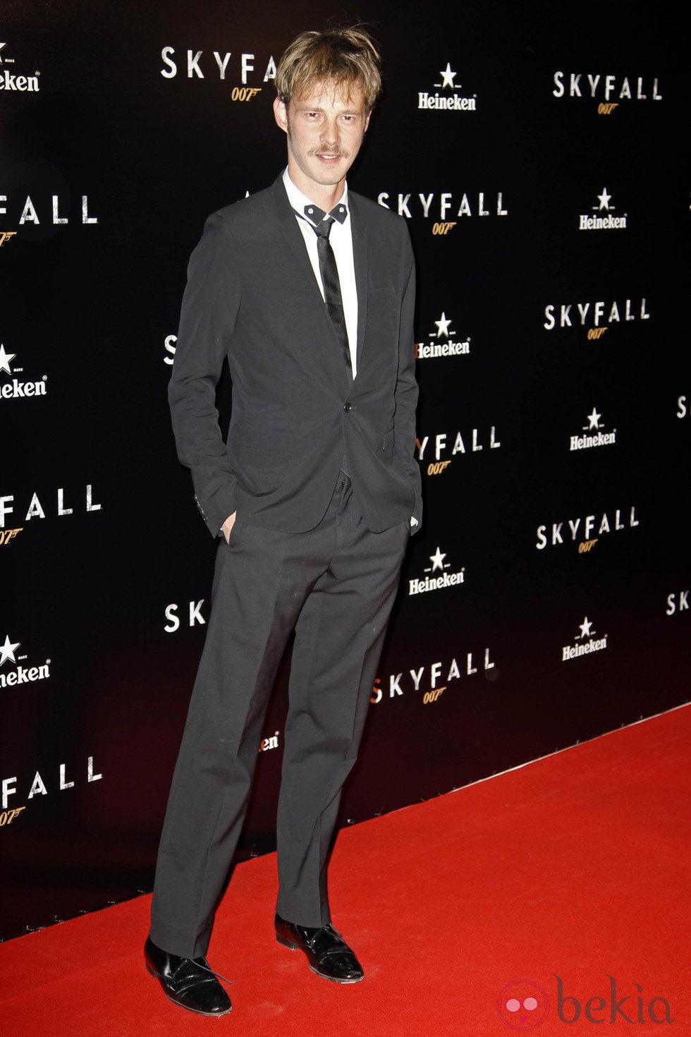 Eloy Azorín en el estreno de 'Skyfall' en Madrid