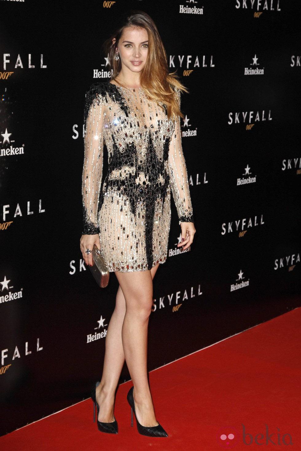 Ana de Armas en el estreno de 'Skyfall' en Madrid