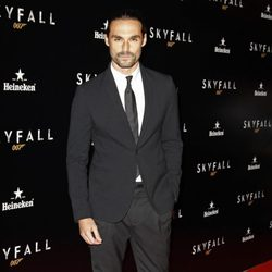 Iván Sánchez en el estreno de 'Skyfall' en Madrid