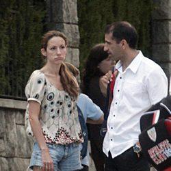 Telma Ortiz hablando con Marc Gené en Barcelona