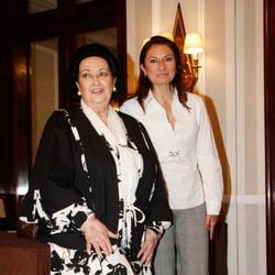 Montserrat Caballe y Montserrat Martí felices tras un concierto