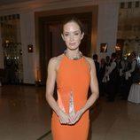 Emily Blunt en la gala Harper's Bazaar Mujer del Año 2012