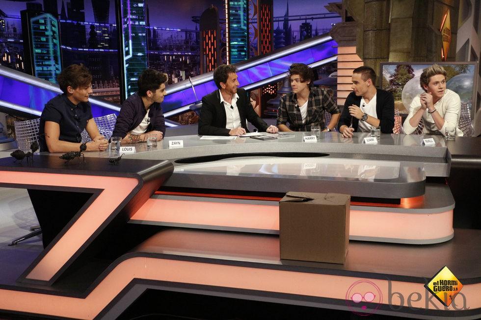One Direction y Pablo Motos en 'El hormiguero'