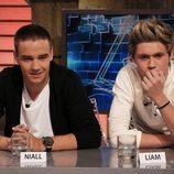Los One Direction Liam Payne y Niall Horan en 'El hormiguero'