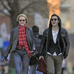 Evan Rachel Wood y Jamie Bell paseando por Nueva York
