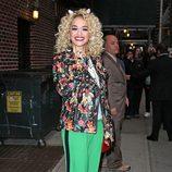 Rita Ora en 'Late Show'