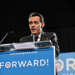 Marc Anthony haciendo campaña a favor de Obama