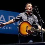 Bruce Springsteen en un evento para la campaña de Barack Obama