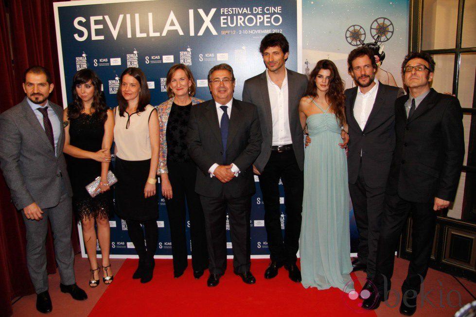 Reparto de 'Fin' en el Festival de Cine Europeo de Sevilla 2012