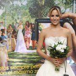 Edurne se viste de novia para promocionar la firma 'Sony'