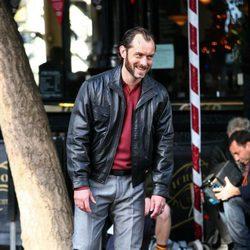 Jude Law en el rodaje de 'Dom Hemingway'