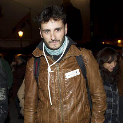 Asier Etxeandía en la manifestación de los actores en defensa de la Cultura
