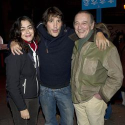 María Isasí, Sergio Peris Mencheta y Emilio Linder en la manifestación de los actores en defensa de la Cultura