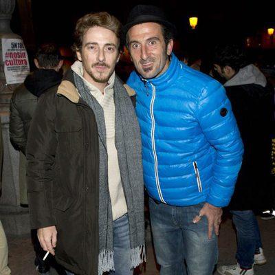 Víctor Clavijo y Luis Zahera en la manifestación de los actores en defensa de la Cultura